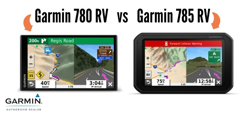 Garmin 780 and 785 screens side by side
