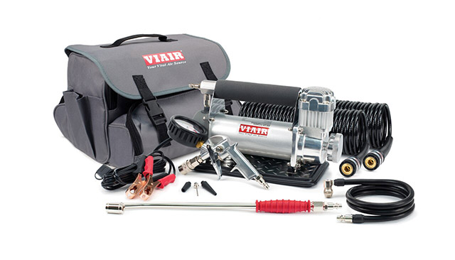 portable VIAIR Air Compressors for RV tire inflation with accessories